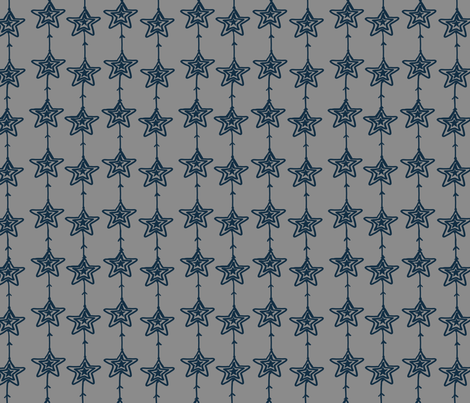 Christmas Stars gray-blue fabric by fat_bird_designs on Spoonflower - custom fabric