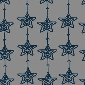 Christmas Stars gray-blue