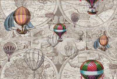 Hot Air Map Pattern