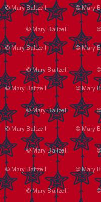 Christmas Stars Red Blue