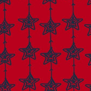 Christmas Stars Red Blue