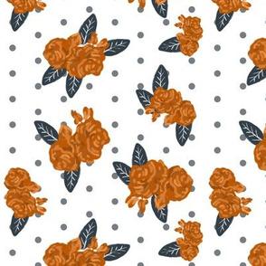UT longhorns texas floral pattern print
