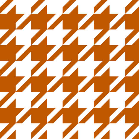 UT longhorns texas houndstooth pattern print  fabric by charlottewinter on Spoonflower - custom fabric