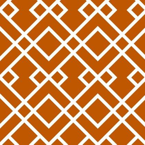 UT longhorns trellis pattern print orange and white