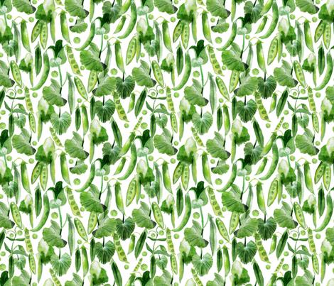 pea_pattern fabric by holaholga on Spoonflower - custom fabric