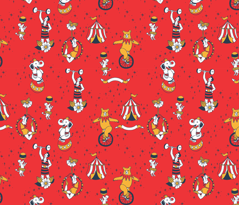 Vintage Circus Flash fabric by meowlynn on Spoonflower - custom fabric