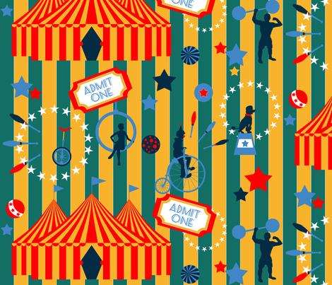 Circus Loops fabric by dahliabunny on Spoonflower - custom fabric