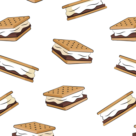 s'mores  fabric by littlearrowdesign on Spoonflower - custom fabric