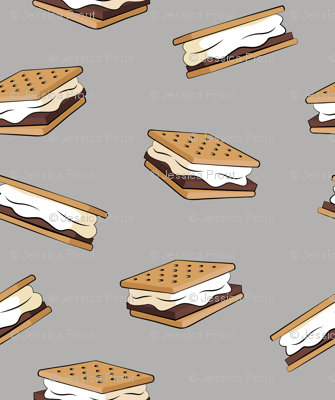 s'mores on light grey
