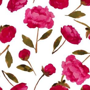 Red Peonies Scatter