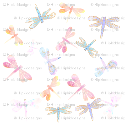 Watercolor Dragonflies