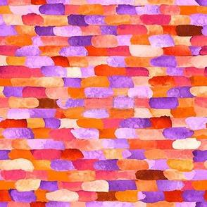 Watercolor Paint Brick Pattern