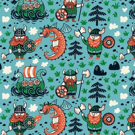 Vikings fabric by penguinhouse on Spoonflower - custom fabric