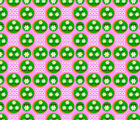 picnic candy flower_pink fabric by 257 on Spoonflower - custom fabric