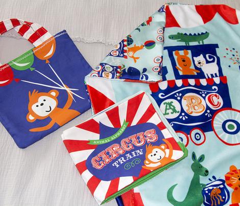 Circus Alphabet Minky Blanket