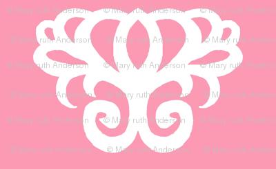 Damask Swirl- Pink