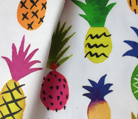 pineapple fun - white, large