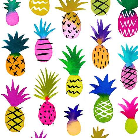 pineapple fun fabric by mirabelleprint on Spoonflower - custom fabric