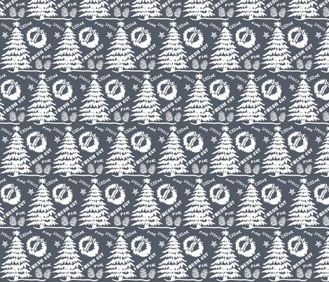 Christmas fresh-cut fabric by fat_bird_designs on Spoonflower - custom fabric