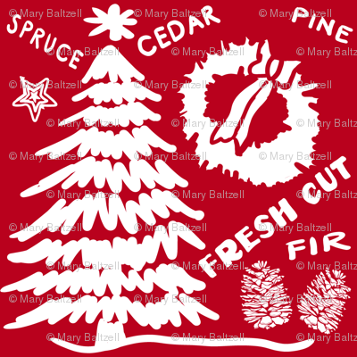 Christmas Tree fresh-cut Red