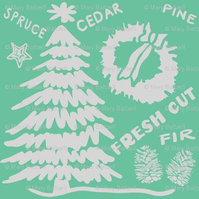 Christmas Fresh Cut Tree Mint