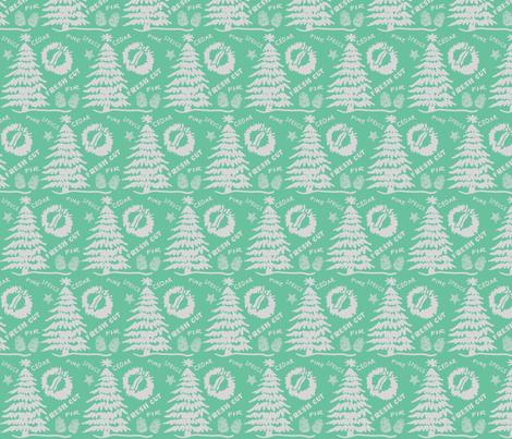Christmas Fresh Cut Tree Mint fabric by fat_bird_designs on Spoonflower - custom fabric