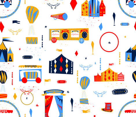 Vintage_Circus_1 fabric by sonja_stojcevski on Spoonflower - custom fabric