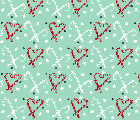 Candy Cane fabric by fat_bird_designs on Spoonflower - custom fabric