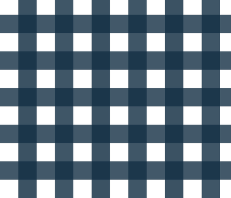 Buffalo Check Navy fabric by fat_bird_designs on Spoonflower - custom fabric