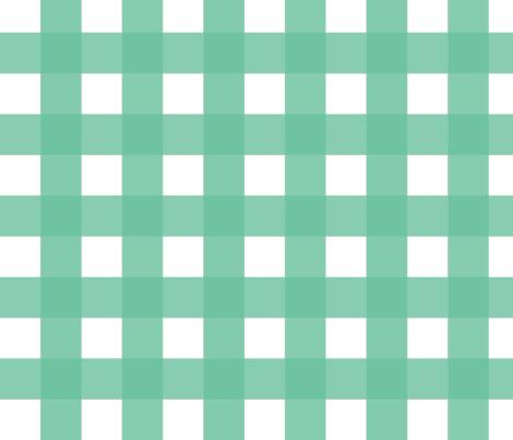 Buffalo Check Mint fabric by fat_bird_designs on Spoonflower - custom fabric
