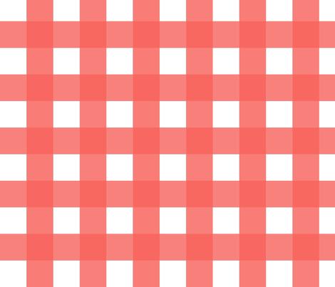 Buffalo Check Pink fabric by fat_bird_designs on Spoonflower - custom fabric