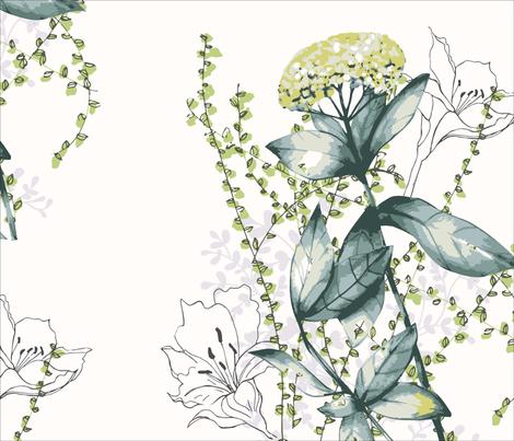 Yarrow fields in naturals fabric by lauren_mccrea on Spoonflower - custom fabric