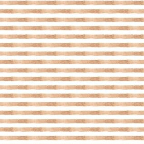 Tan Brown Watercolor Nautical Stripe || Miss Chiff Designs