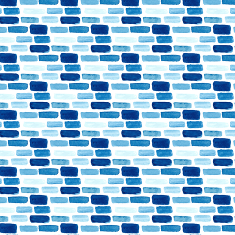 Indigo Blue Watercolor spots || nautical water summer brick abstract white _ Miss Chiff Designs fabric by misschiffdesigns on Spoonflower - custom fabric