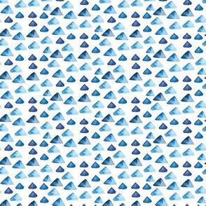 Indigo Blue Nautical Watercolor || Boho Mountain Hill Spots Drops White Watercolour_Miss Chiff Designs