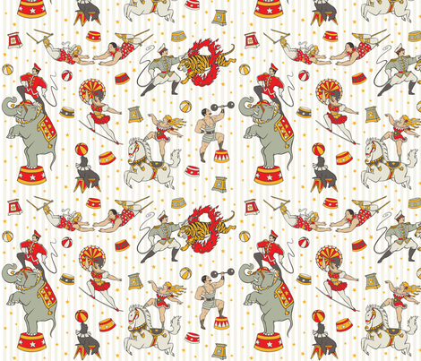 CLASSIC CIRCUS fabric by crixtina on Spoonflower - custom fabric