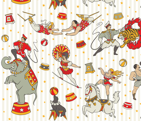 CLASSIC CIRCUS fabric by crixtina on Spoonflower - custom fabric