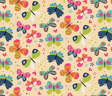 Bouncy Butterflies fabric by lisa_kubenez on Spoonflower - custom fabric