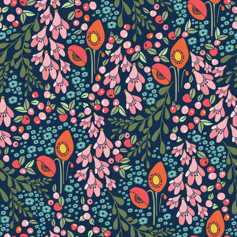 Fall 2017 California blooms fabric by thislittlestreet on Spoonflower - custom fabric