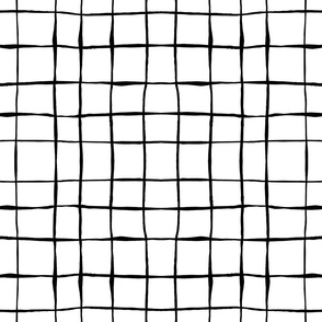 black and white hand drawn grid