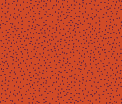 Fall 2017 Acorns in burnt orange fabric by thislittlestreet on Spoonflower - custom fabric