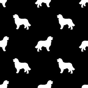 Bernese Mountain Dog silhouette dog breed pattern black and white