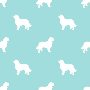 Bernese Mountain Dog silhouette dog breed pattern blue tint