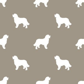 Bernese Mountain Dog silhouette dog breed pattern med brown