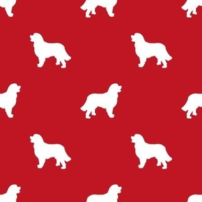 Bernese Mountain Dog silhouette dog breed pattern red