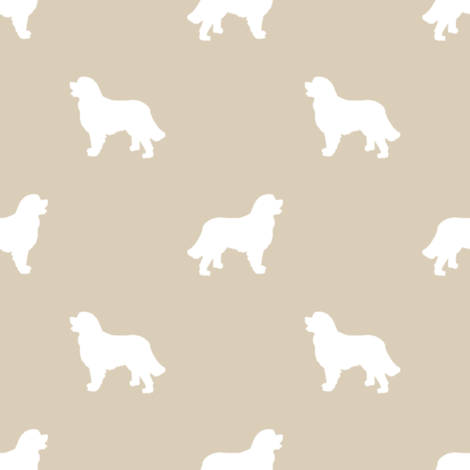 Bernese Mountain Dog silhouette dog breed pattern sand fabric by petfriendly on Spoonflower - custom fabric