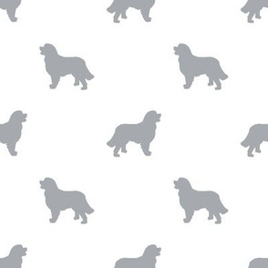 Bernese Mountain Dog silhouette dog breed pattern white grey