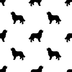 Bernese Mountain Dog silhouette dog breed pattern white