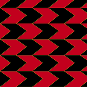 Black Red and Faux Gold Chevron Stripes