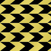 Black and Faux Gold Chevron Stripes
